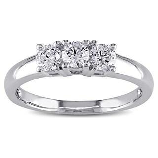 Miadora 14k Gold 1/2ct TDW Round Diamond Bridal Ring (J-K, I2-I3)
