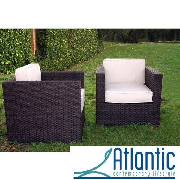 Atlantic Modena Chair Set with Ivory Cushions