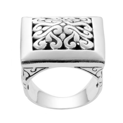 Handmade Sterling Silver Bold Cawi Statement Ring (Indonesia)