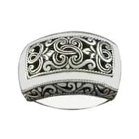 Handmade Sterling Silver Wide Cawi Statement Ring (Indonesia)