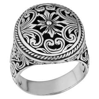 Handmade Sterling Silver Bold Statement Cawi Ring (Indonesia)