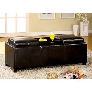 Furniture of America Salford Contemporary Storage Bench with Flip-top Tray