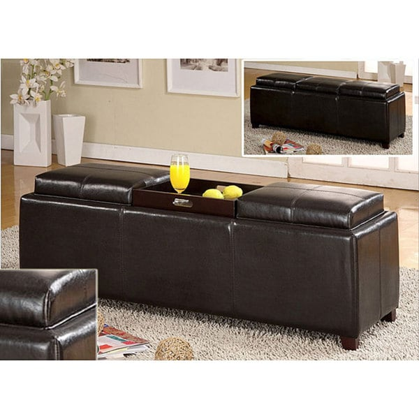 Great Nice Storage Bench With Tray Top Part   9: Furniture Of America Salford  Contemporary Storage