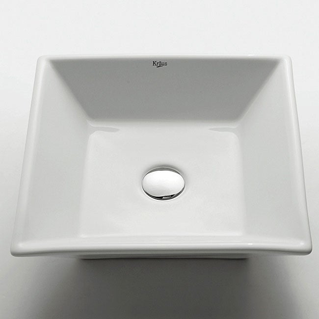 Bathroom Sinks Overstock kraus flat square ceramic vessel bathroom sink - free shipping