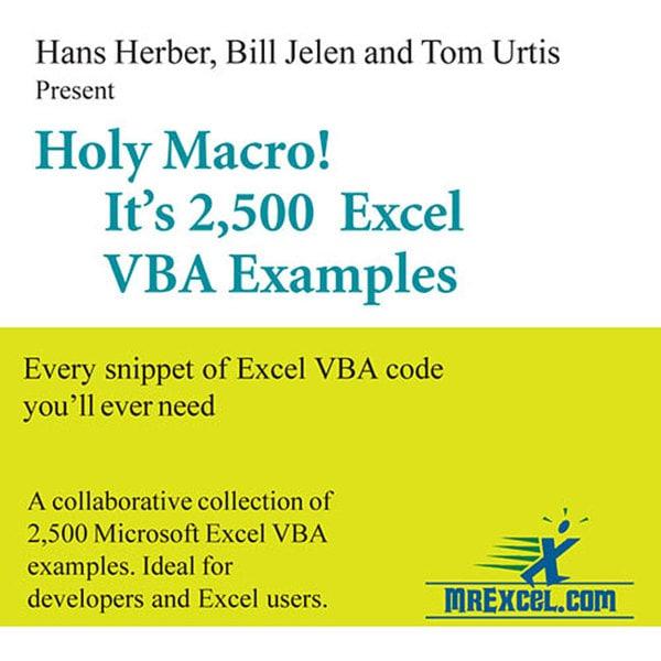 Mr  Excel 'Holy Macro! It's 2,500 Excel VBA Examples' CD-ROM