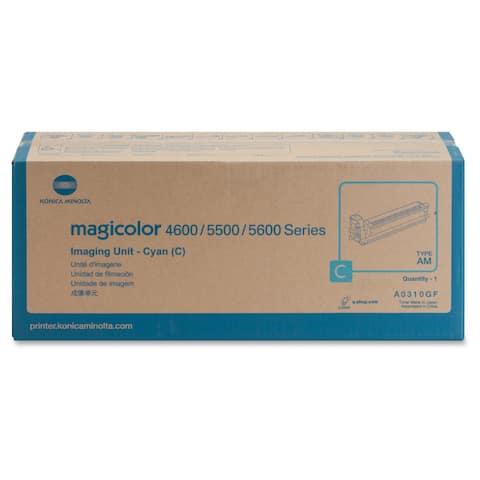 Konica Minolta 120V Cyan Imaging Unit For Magicolor 5550 and 5570 Printers