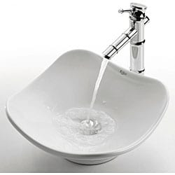 KRAUS Tulip Ceramic Vessel Bathroom Sink - Thumbnail 1