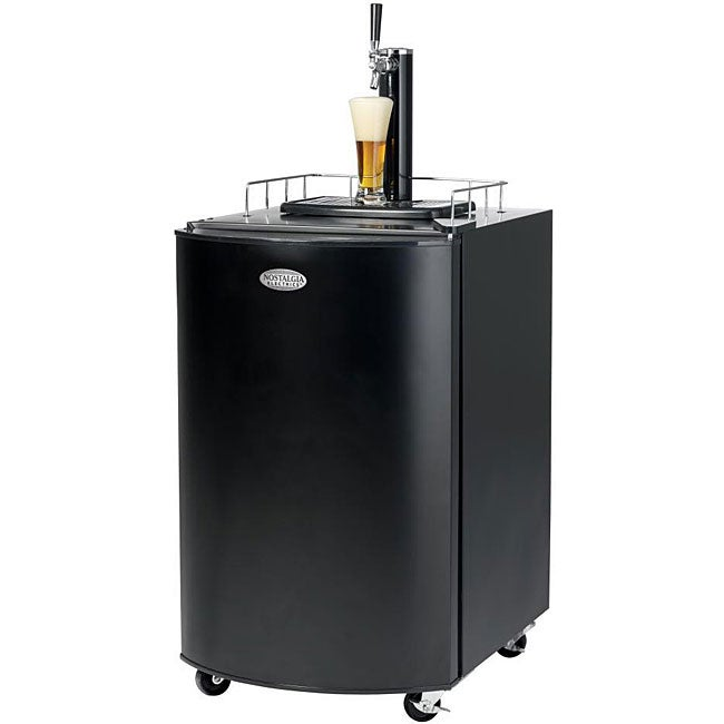 Nostalgia KRS-2100 Kegorator Beer Keg Fridge, Black