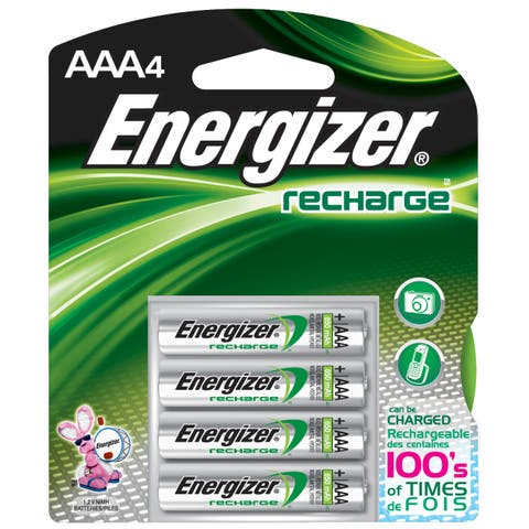 Energizer Recharge Power Plus Rechargeable AAA Batteries, 4 Pack