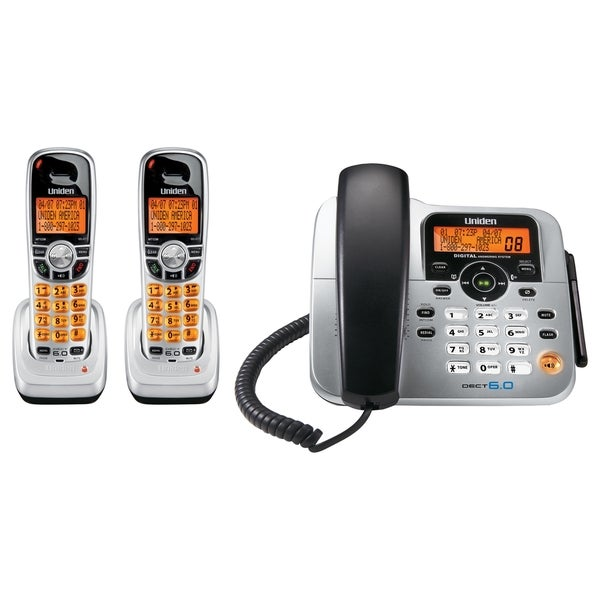 Uniden DECT1588-2 Corded\/Cordless Phone - Overstock - 3974384