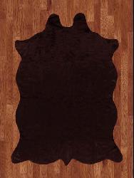 Animal Hide Brown Acrylic Rug (5' x 7')
