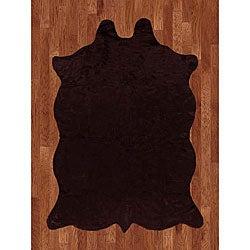 Animal Hide Brown Acrylic Rug - 5' x 7'