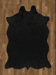 Animal Hide Black Acrylic Rug (5' x 7')
