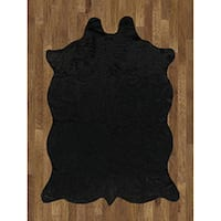 Animal Hide Black Acrylic Rug - 5' x 7'