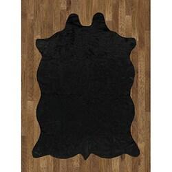 Animal Hide Black Acrylic Rug - 5' x 7'