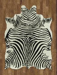 Zebra Hide Polyproplene Rug (5' x 7') - Thumbnail 2