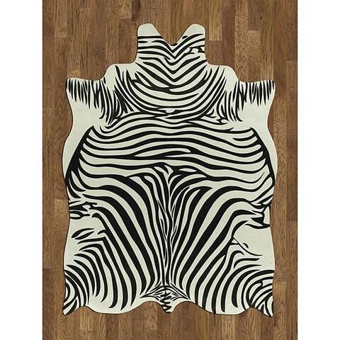 Zebra Hide Polyproplene Rug - 5' x 7'