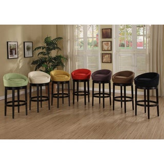 Gracewood Hollow Uris Swivel Microfiber Bar Stool