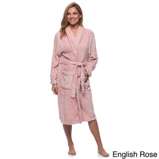 Women's Microplush Bath Robe (5 options available)