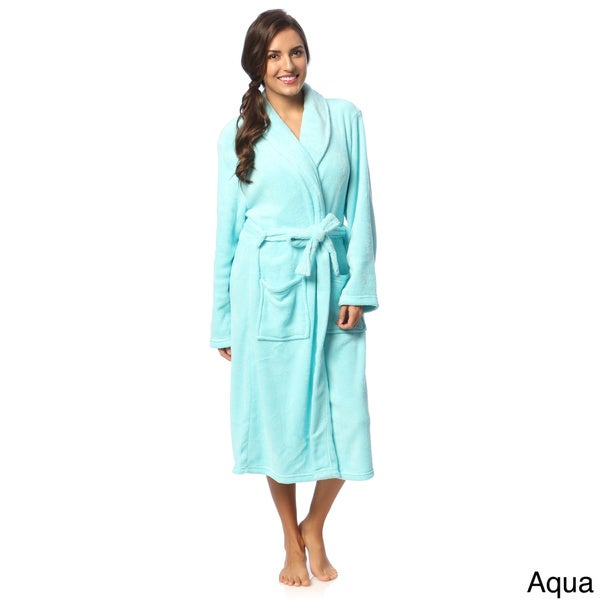 Shop Touch of Class Microplush Bath Robe - Free Shipping On Orders ... 3bcd82554