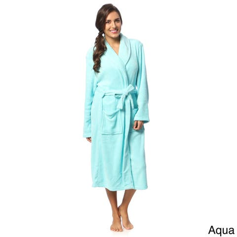 Womens Microplush Bath Robe