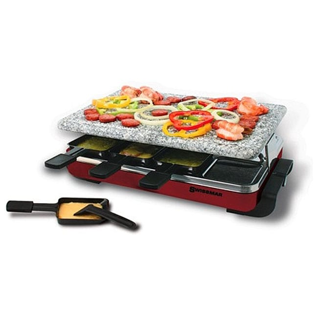 swissmar 8 person raclette party grill free shipping today 12010385. Black Bedroom Furniture Sets. Home Design Ideas
