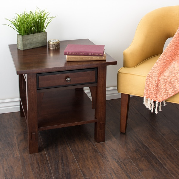 Shop Copper Grove Talisman 1 Drawer End Table Free Shipping Today