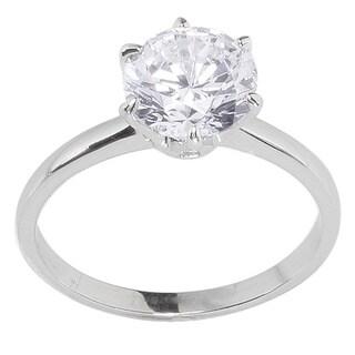 NEXTE Jewelry White Anti-tarnish Rhodium-plated Multi-stone Cubic Zirconia Ring