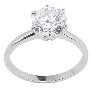 NEXTE Jewelry White Anti-tarnish Rhodium-plated Multi-stone Cubic Zirconia Ring