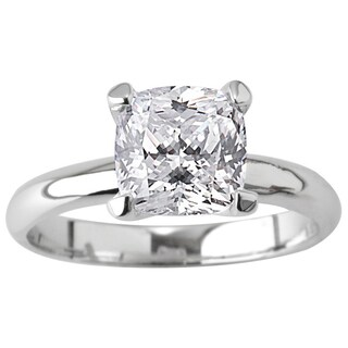 NEXTE Jewelry Silvertone Cushion CZ Bridal-inspired Solitaire Ring (More options available)