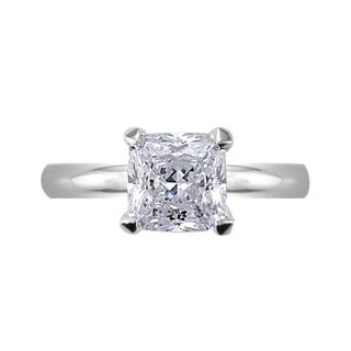 NEXTE Jewelry Silvertone Princess CZ Bridal-inspired Solitaire Ring (More options available)
