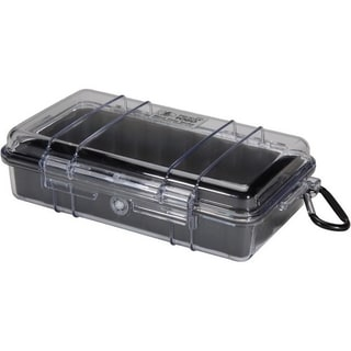 Pelican Micro Case 1060 with Clear Lid and Carabineer