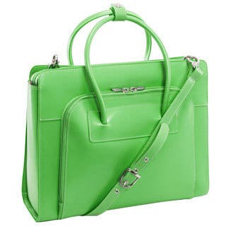 McKlein Lake Forest Italian Leather 15.4-inch Laptop Tote Bag (Option: Green)|https://ak1.ostkcdn.com/images/products/3981427/P12012458.jpg?impolicy=medium