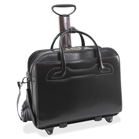 McKlein Willowbrook Black Detachable-Wheeled Rolling 15-inch Laptop Briefcase
