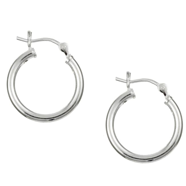 Sterling Essentials Sterling Silver 16mm x 2mm Hoop Earrings