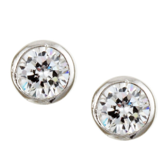 Sterling Silver 5-mm Round Cubic Zirconia Studs