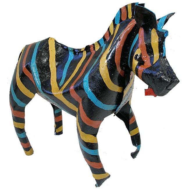 Painted Tin Zebra (Zimbabwe)