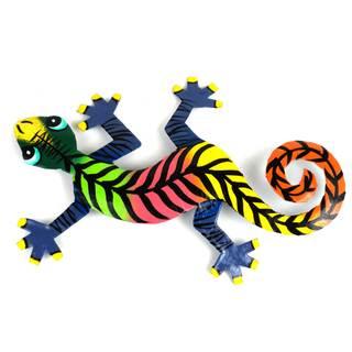 Metal 'Striped Gecko' Wall Art , Handmade in Haiti