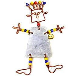 Handmade Beaded 'Dancing Girl' Pin (Kenya)