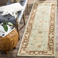 Safavieh Handmade Traditions Teal/ Brown Wool Runner Rug - 2'3 x 8'