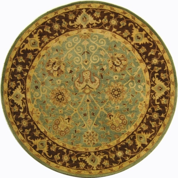 Shop Safavieh Handmade Traditions Teal/ Brown Wool Rug