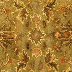 Safavieh Handmade Antiquities Kasadan Olive Green Wool Rug (3'6 Round)