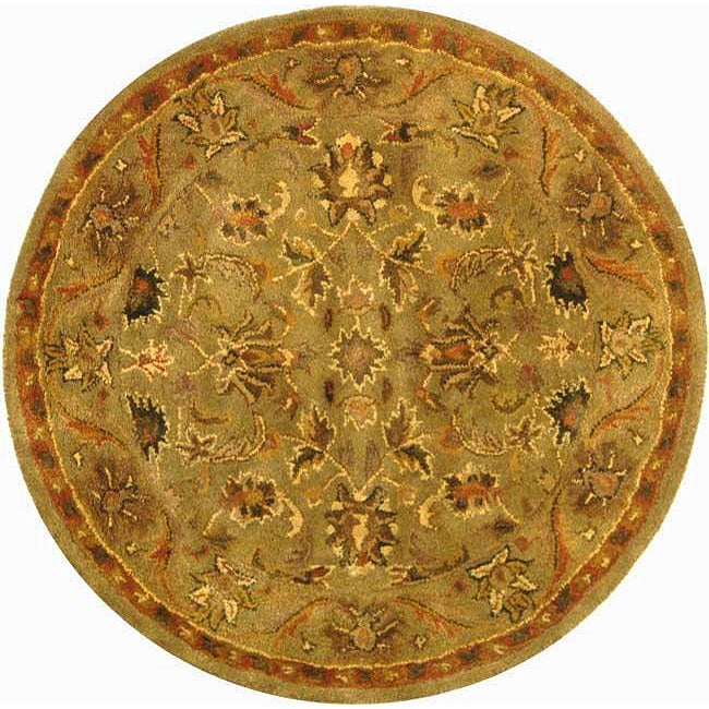 Safavieh Handmade Antiquities Kasadan Olive Green Wool Rug (8' Round)