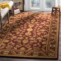 "Safavieh Handmade Exquisite Wine/ Gold Wool Rug - 7'6"" x 9'6"""
