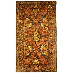 Safavieh Handmade Kerman Sage/ Gold Wool Rug (2' x 3')