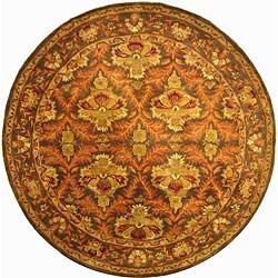 Safavieh Handmade Kerman Sage/ Gold Wool Rug (6' Round)