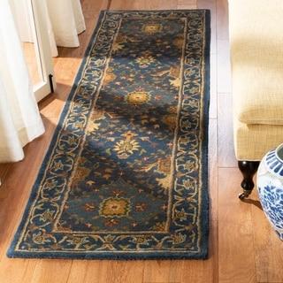 Safavieh Handmade Tabriz Blue Wool Runner (2'3 x 8')