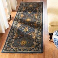 Safavieh Handmade Tabriz Blue Wool Runner Rug