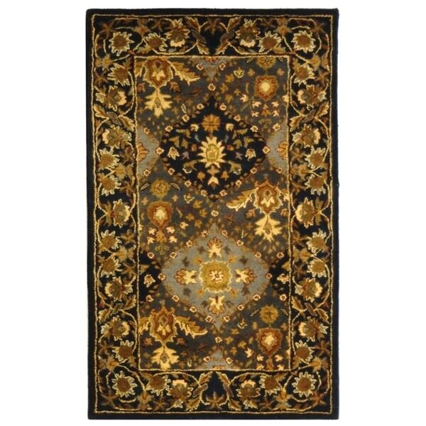 Safavieh Handmade Tabriz Blue Wool Rug - 3' x 5'