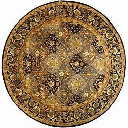 Safavieh Handmade Tabriz Blue Wool Rug (3'6 Round)